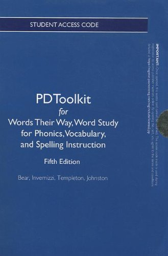 9780132837514: PDToolkit -- Standalone Access Card -- for Words Their Way: Word Study for Phonics, Vocabulary and Spelling Instruction (Words Their Way Series)