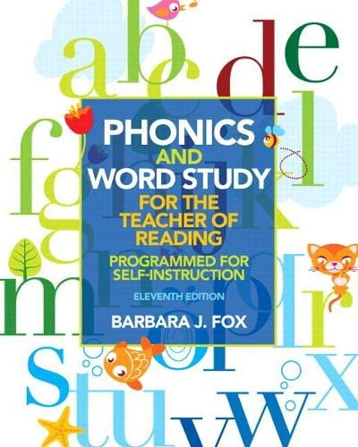 9780132838092: Phonics and Word Study for the Teacher of Reading: Programmed for Self-Instruction (11th Edition)