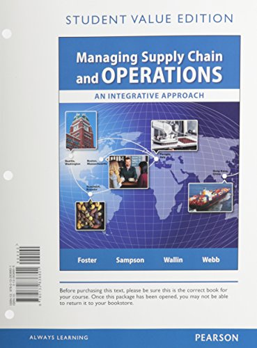 9780132838801: Managing Supply Chain and Operations, Student Value Edition