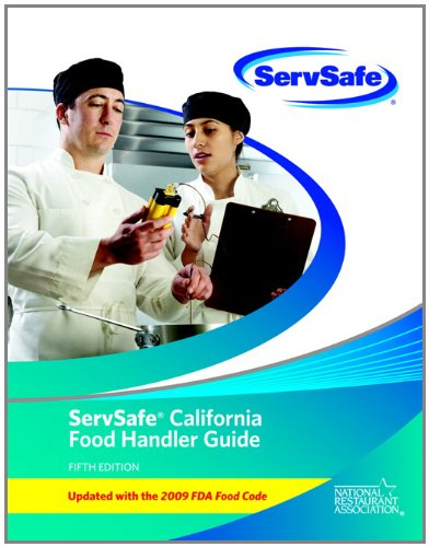 9780132839327: ServSafe California Food Handler Guide and Exam (English) Pack of 10 (includes exam answer Sheets)