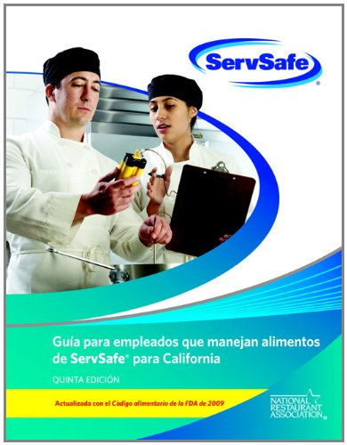 9780132839334: ServSafe California Food Handler Guide and Exam (Spanish) Pack of 10 (includes exam answer sheets)