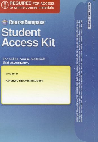 9780132843669: CourseCompass Student Access Code Card for Advanced Fire Administration