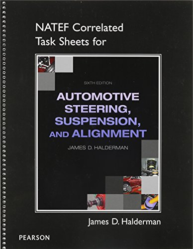 9780132845243: NATEF Correlated Job Sheets for Auto Steering, Suspension, Alignment