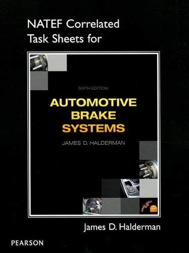 9780132845267: NATEF Correlated Job Sheets for Automotive Brake Systems
