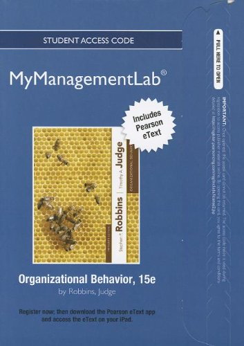 9780132846172: NEW MyManagementLab with Pearson eText -- Access Card -- for Organizational Behavior (MyManagementLab (access codes))