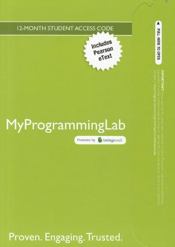 9780132846387: MyProgrammingLab with Pearson eText  --  Access Card  -- for Absolute Java (5th Edition)