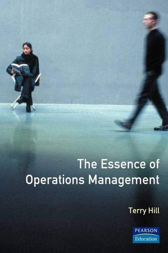9780132848459: Essence of Production Operations Management, The