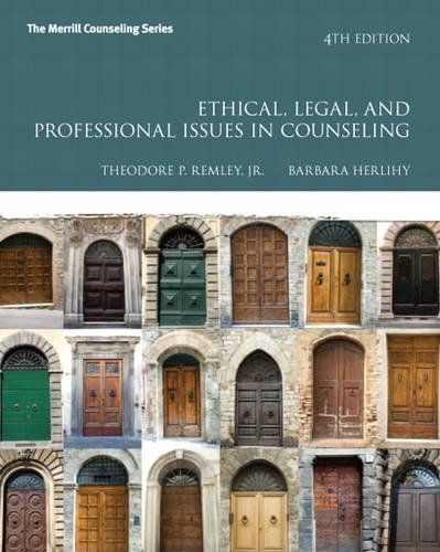 9780132851817: Ethical, Legal, and Professional Issues in Counseling (Merrill Counseling)