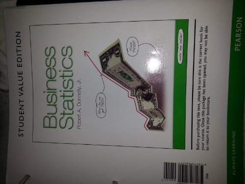 9780132855501: Business Statistics, Student Value Edition