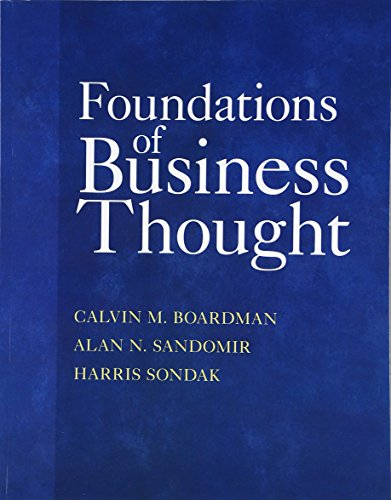 Foundations of Business Thought: Boardman, Calvin M.;