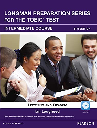 9780132861427: Longman Preparation Series for the TOEIC Test: Listening and Reading Intermediate + CD-ROM w/Audio w/o Answer Key (5th Edition)