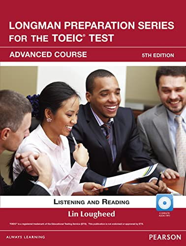 9780132861465: Longman Preparation Series for the TOEIC Test: Listening and Reading Advanced +CD-ROM w/Audio w/o Answer Key