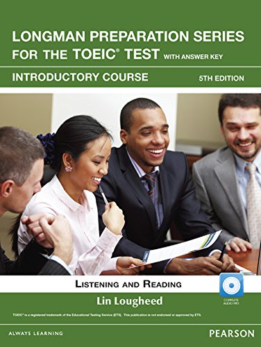 9780132861489: Longman Preparation Series for the TOEIC Test: Listening and Reading Introduction + CD-ROM W/audio and Answer Key