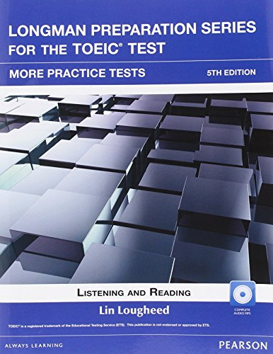 9780132861496: Longman Preparation Series for the Toeic Test: Listening and Reading More Practice + CD-ROM W