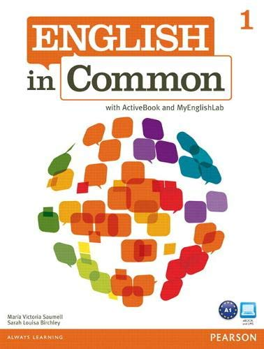 English in Common 1, MyLab English (Student: Maria Victoria Saumell,