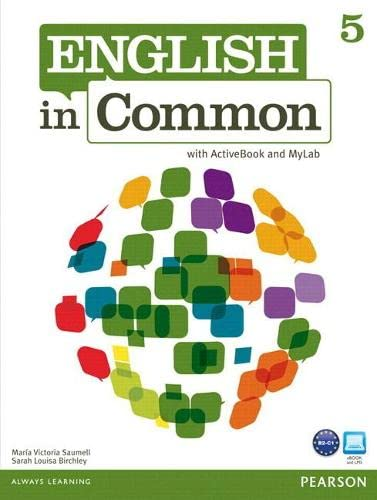 9780132861588: MyEnglishLab: English in Common 5 (Student Access Code Card)
