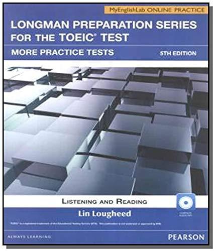 9780132862745: Toeic more practice tests 5e w cdrom itest mel ak