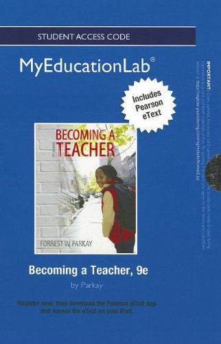 9780132863117: NEW MyEducationLab with Pearson eText -- Standalone Access Card -- for Becoming a Teacher (myeducationlab (Access Codes))