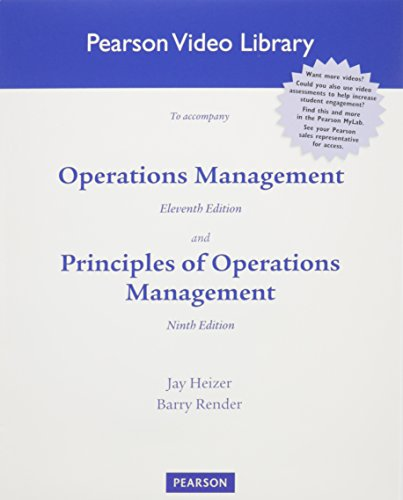 9780132863322: DVD for Operations Management & Principles of Operations Management