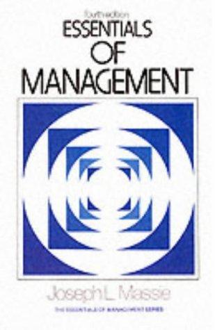 9780132863377: Essentials of Management (4th Edition)