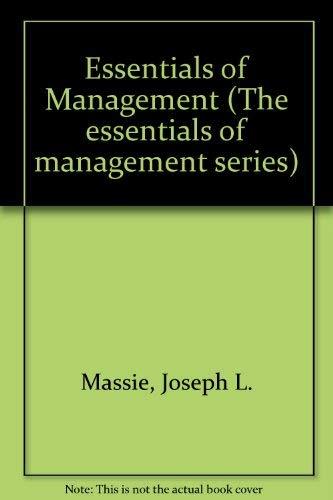 9780132863445: Essentials of Management