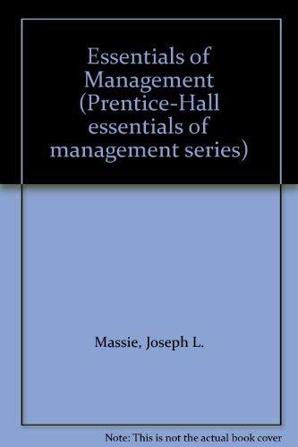9780132863513: Essentials of Management (Prentice-Hall essentials of management series)