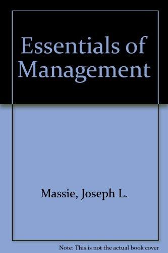 9780132863858: Essentials of Management
