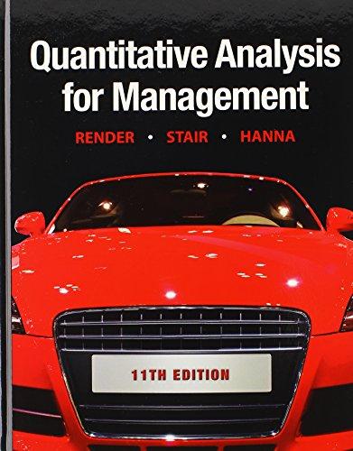 9780132865883: Quantitative Analysis for Management & POM-QM for Windows v. 3 (11th Edition)