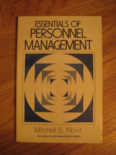 9780132866095: Essentials of Personnel Management
