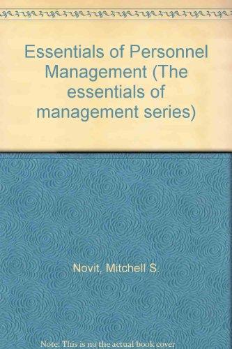 9780132866170: Essentials of Personnel Management (Prentice-Hall essentials of management series)