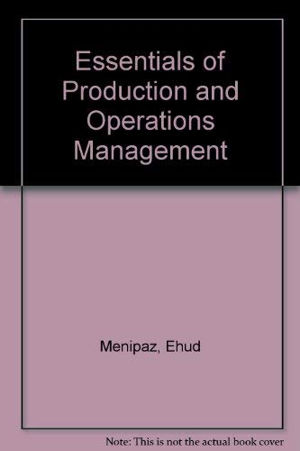 9780132866415: Essentials of Production and Operations Management