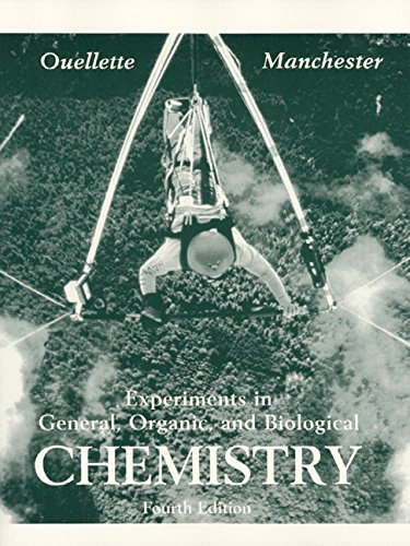 9780132867580: Experiments in General, Organic and Biological Chemistry, 4th Edition