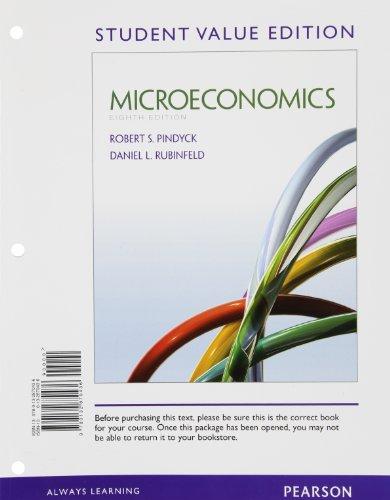 9780132870436: Microeconomics, Student Value Edition (Pearson Series in Economics)