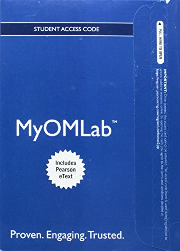 9780132870658: NEW MyOMLab with EText - Component Access Card - for MYOMLAB