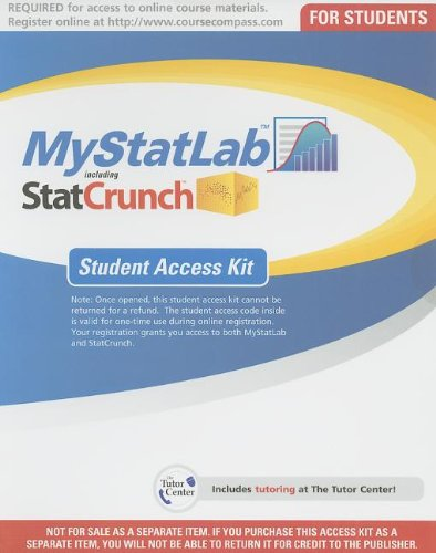9780132870863: MyStatlab with Pearson eText -- Access Card -- for Business Statistics