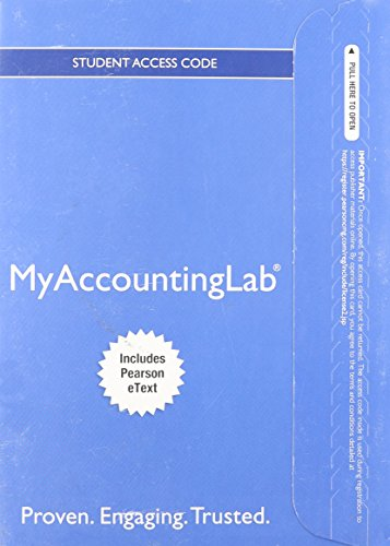 9780132871488: NEW MyAccountingLab with EText - Component Access Card (1-Semester Access)