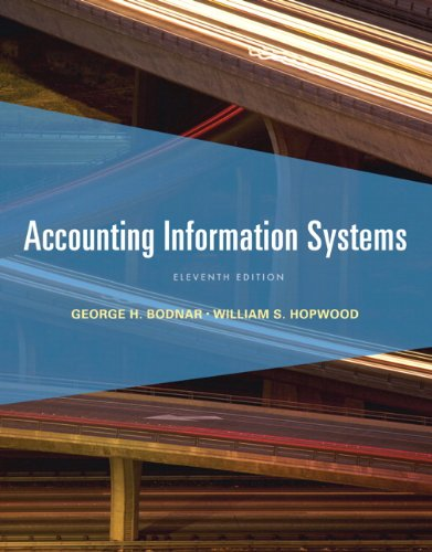 Bodnar: Accounti Informat Systems_11 (11th Edition): Bodnar, George H.;