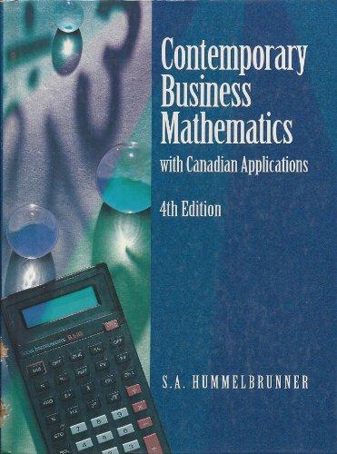 9780132875820: Contemporary Business Maths