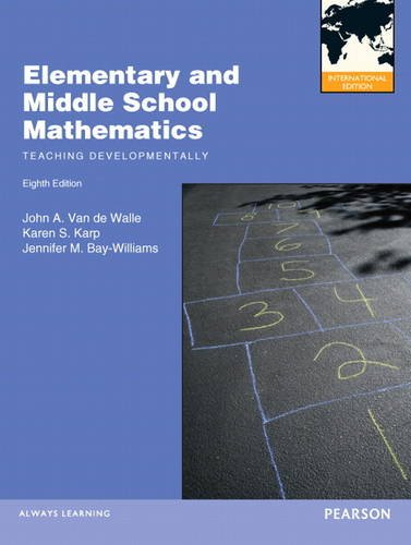 9780132879040: Elementary and Middle School Mathematics: Teaching Developmentally.
