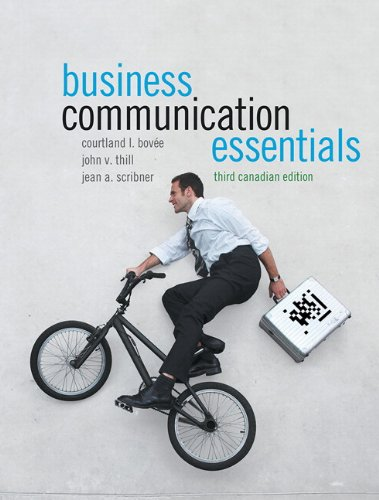 9780132881029: Business Communication Essentials, Third Canadian Edition with MyCanadianBusCommLab (3rd Edition)