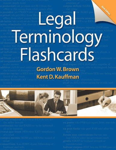 9780132881388: Printed Flashcards for Legal Terminology