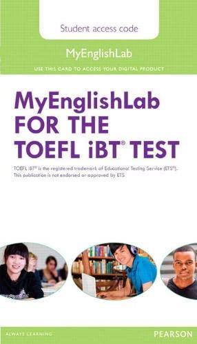 9780132881883: MyLab English for the TOEFL Test (My English Lab)