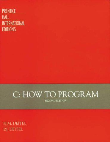 9780132883337: C How to Program
