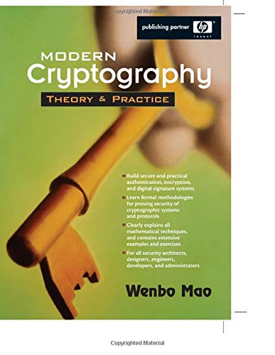 9780132887410: Modern Cryptography: Theory and Practice (paperback) (Hewlett-Packard Professional Books)