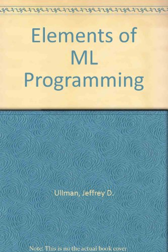 9780132887885: Elements of ML Programming