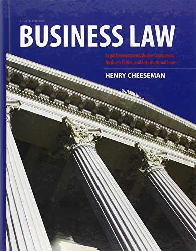 Business Law (8th Edition): Cheeseman, Henry R.