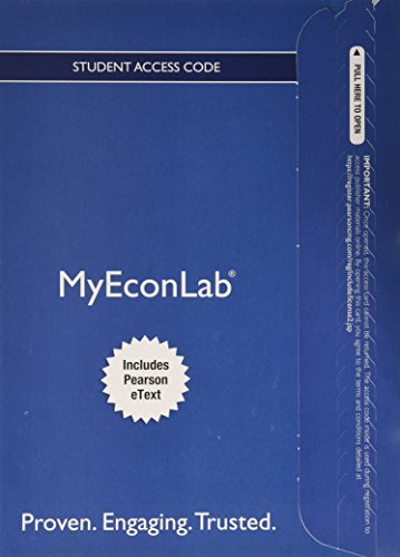 9780132891455: NEW MyEconLab with Pearson EText - Component Access Card (1-semester Access)