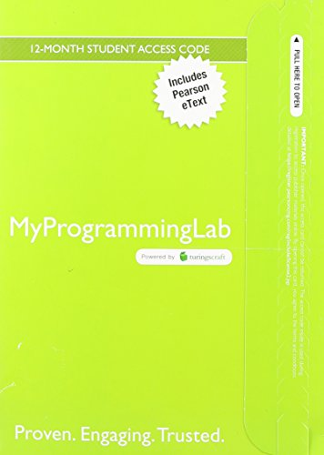 9780132891554: MyProgrammingLab with Pearson eText -- Access Card -- for Starting Out with Java: From Control Structures through Objects (5th Edition) (MyProgrammingLab (Access Codes))