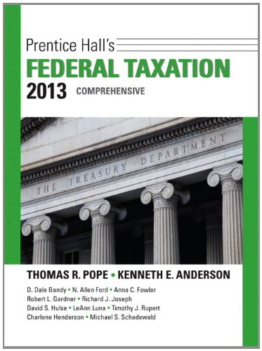 9780132891646: Prentice Hall's Federal Taxation 2013 Comprehensive (26th Edition)