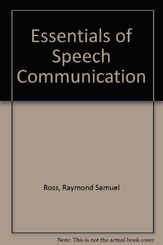 9780132891738: Essentials of Speech Communication